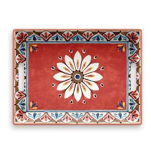Vassoio rettangolare con maniglie Madrid 50x37xh6,5 cm certificato per l'uso alimentare