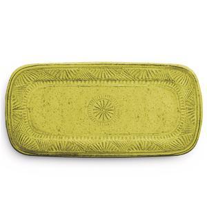 Vassoietto Sandwich rettangolare Mono 43x21 cm certificato per l'uso alimentare giallo