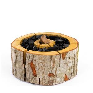 Wooden Barbecue Burner Ecogrill in legno di ontano Large 25xh10 cm adatto per grigliare e cucinare sul fuoco all'aperto