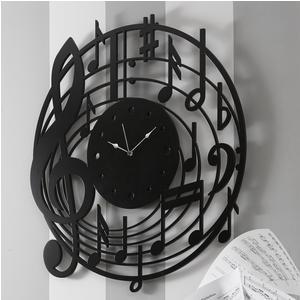 Orologio da parete Rotondo diametro 80 cm in legno DOREMIFA tagliato al laser in legno Colore nero