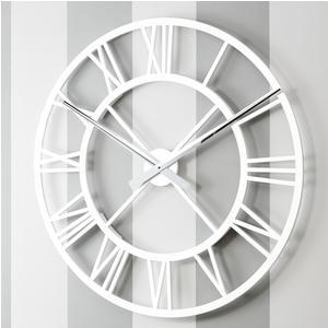 Orologio da parete Rotondo diametro 80 cm in legno IMPERO tagliato al laser in legno laccato bianco
