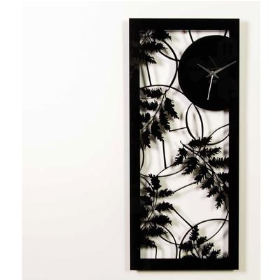 Orologio da parete in metacrilato Tagliato al laser AUTUNNO 60x24xh3 cm colore nero