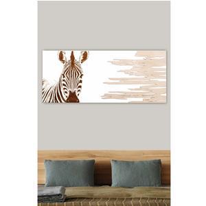 Pannello da parete ZEBRA A POIS 120xh50cm orizzontale pannello colore bianco intarsi e marcatura in legno