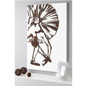 Pannello da parete verticale, quadro da parete REVERANCE 75xh120cm in legno verticale bianco intarsi in legno wengè