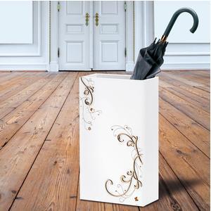 PORTAOMBRELLI Rettangolare, spring 30x15xh50 cm in Legno bianco intarsi al laser in legno naturale