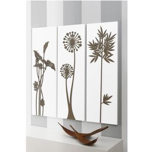 Pannelli da parete tris MALESIA 90xh90cm in legno pannelli colore bianco intarsi in legno colore tortora