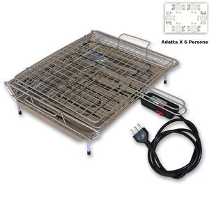 Griglia in acciaio inox circa con sospensione a fune per grill