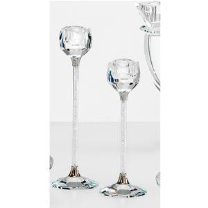 Porta candele in cristallo cm h 18 uno stelo K9 idea bomboniera