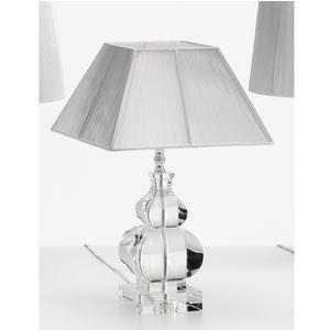 Lampada da tavolo in cristallo massiccio K 9 , CLASSICA H 46 cm Trasparente Cappa quadrata