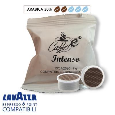 Cialde Caffe è-tuo, miscela Intenso, compatibili Lavazza Espresso Point, confezione da 50 e 100 capsule