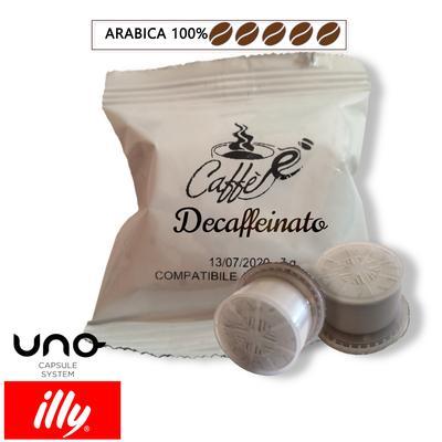 Cialde Caffè è-tuo, miscela decaffeinato, compatibili Illy Uno System, confezione da 50 e 100 capsule