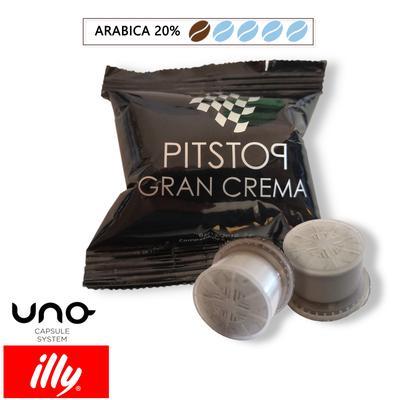 Cialde Caffè Pit Stop miscela Gran Crema, compatibili Illy Uno System, confezione da 100 capsule