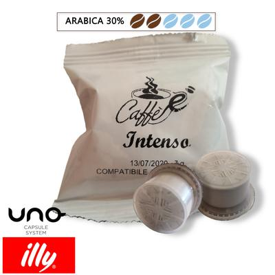 Cialde Caffe è-tuo, miscela intenso, compatibili Illy Uno System, confezione da 50 e 100 capsule