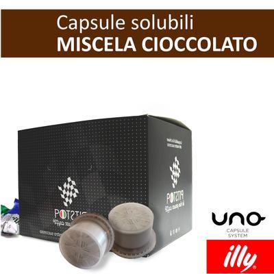 Cioccolato, cialde solubili Illy Uno Sytem, confezione da 25 cialde, Pit stop