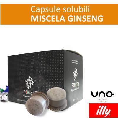 Ginseng, cialde solubili Illy Uno Sytem, confezione da 25 cialde, Pit stop