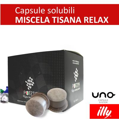 Tisana relax, cialde solubili Illy Uno Sytem, confezione da 25 cialde, Pit stop