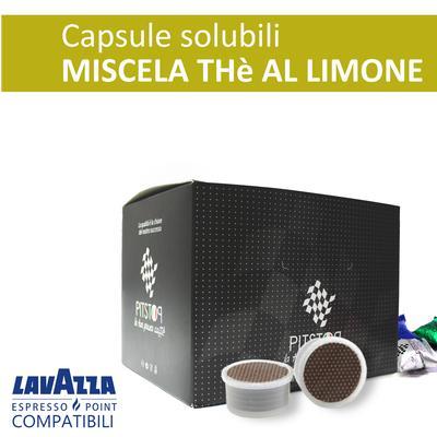 Thè al limone, cialde solubili Lavazza Espresso point, confezione da 25 cialde, Pit stop