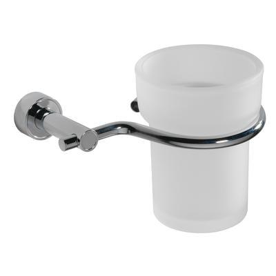 Porta bicchiere sospeso in ottone TIFFANY 14x11xh10 cm con vaschetta in vetro acidato