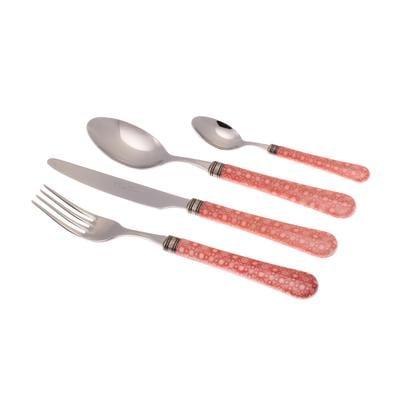 Servizio Posate colorate 24 Pezzi BOSTON in acciaio inox 18/10 manico in metacrilato spessore 2,5 mm colorato multicolor