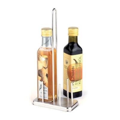 Porta Olio Aceto 250 Ml Inox, 13x7,00xh 30 cm peso 0,31 kg, versione per bottiglie 25 cl