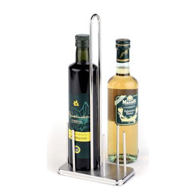 Porta Olio/Aceto 500 Ml Inox, 14,50x8,50xh 35,00 cm peso 0,42 kg versione per bottiglie 50 cl