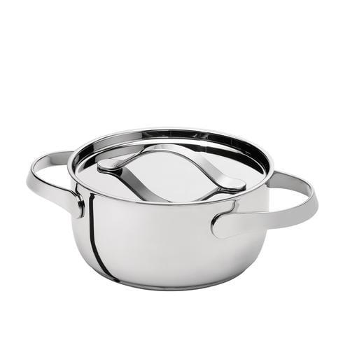 AL DENTE Casseruola diametro 16 cm con coperchio, ad induzione, in acciaio 18.10, lavabile in lavastoviglie