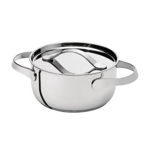 AL DENTE Casseruola diametro 24 cm con coperchio, ad induzione, in acciaio 18.10, lavabile in lavastoviglie
