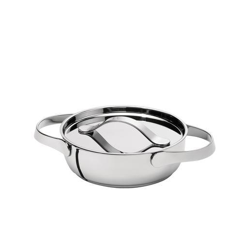 AL DENTE Tegame diametro 24 cm con coperchio, ad induzione, in acciaio 18.10, lavabile in lavastoviglie