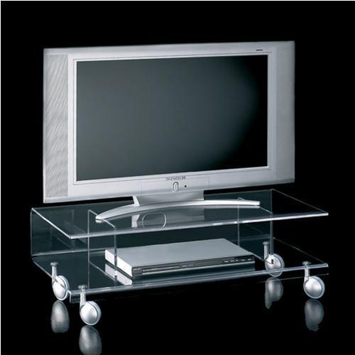 Carrelli Porta Tv Led.Carrello Porta Tv Basso 92x41xh30 Cm Andy 6 In Metacrilato