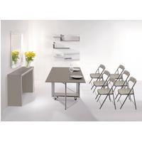 Consolle, più tavolo Archimede chiudibile con 6 sedie first