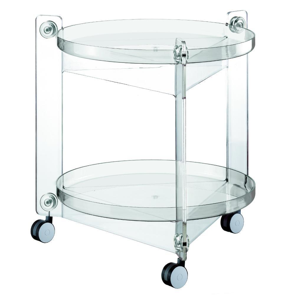Carrello portavivande diametro 66xh63 5 cm massoni con ruote guzzini trasparente guzzini - Carrelli porta vivande ...