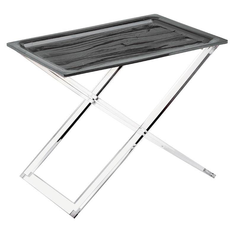 Tavolini Da Salotto Richiudibili.Tavolino Pieghevole Multifunzione Grigio 54x42xh48 Cm Casa In Metacrilato Trasparente Guzzini