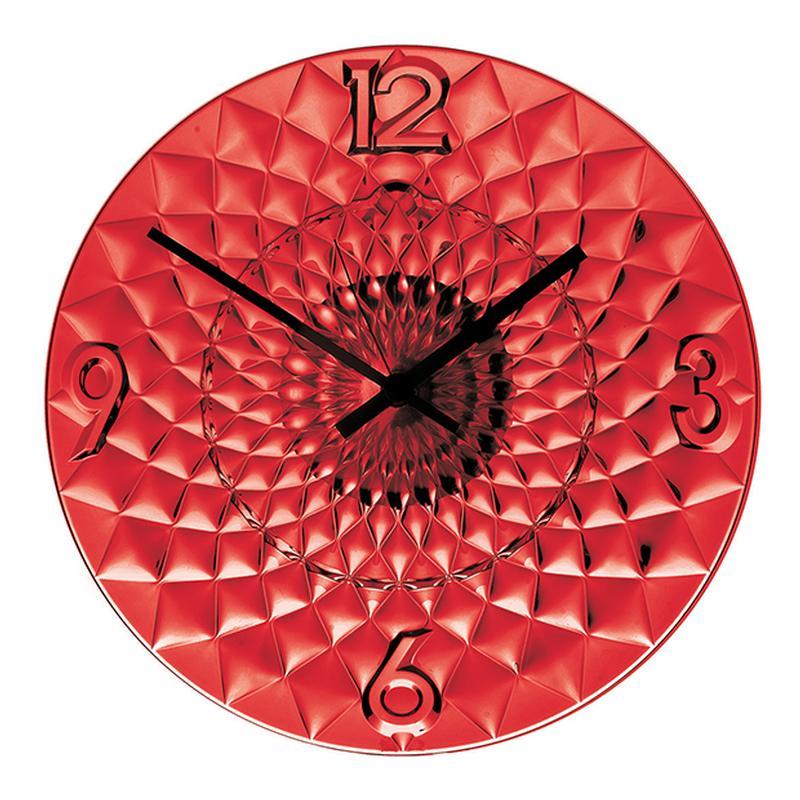 Orologio Da Muro Toujours diametro 36.50 in plastica Colore Rosso ...