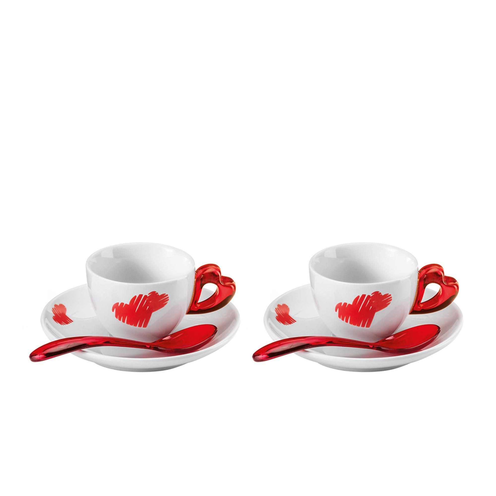 Tazzine caffè con piatto love Ø12xh6