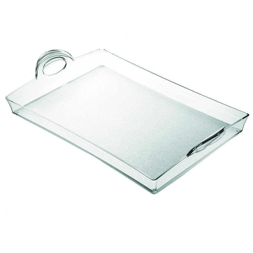 Vassoio rettangolare con manici cm in san for Ikea contenitori vetro