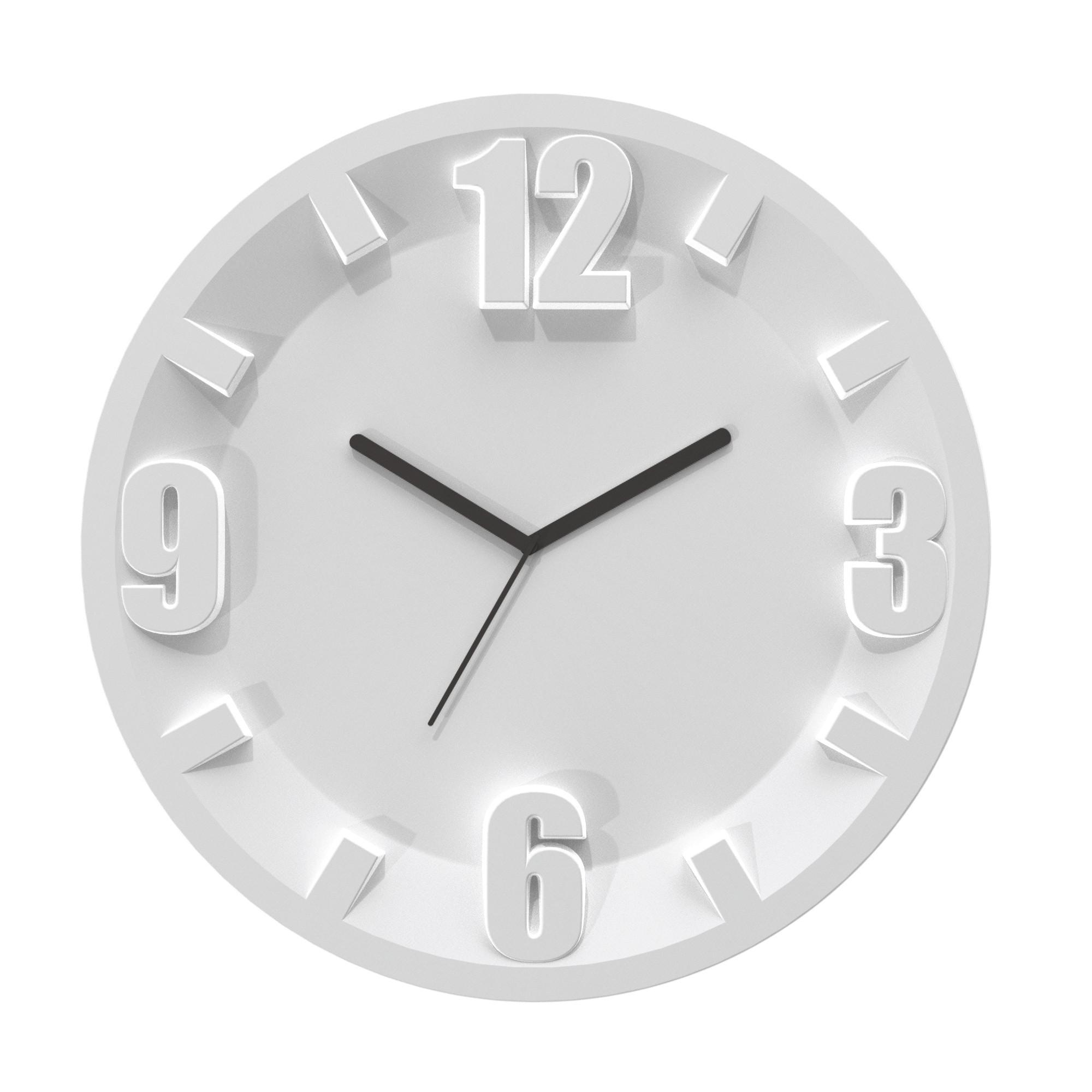 Orologio Guzzini 3-6-9-12 diametro 30x3,5 Grigio Opaco | Guzzini ...