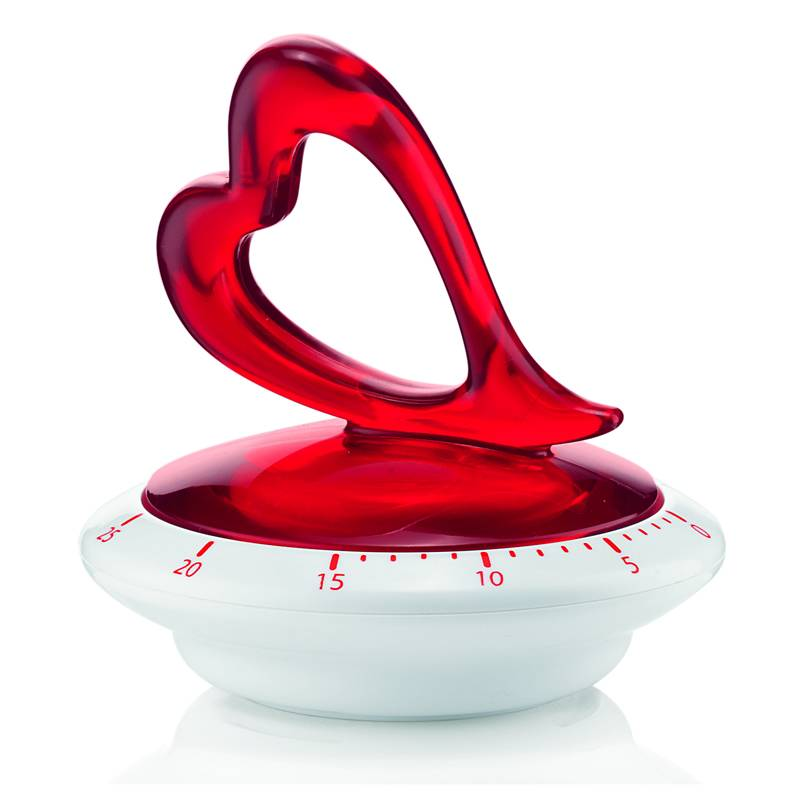 Bomboniere Matrimonio Guzzini.Timer Cucina Love O9 5 X H9 4 Cm Colore Rosso Guzzini Stilcasa
