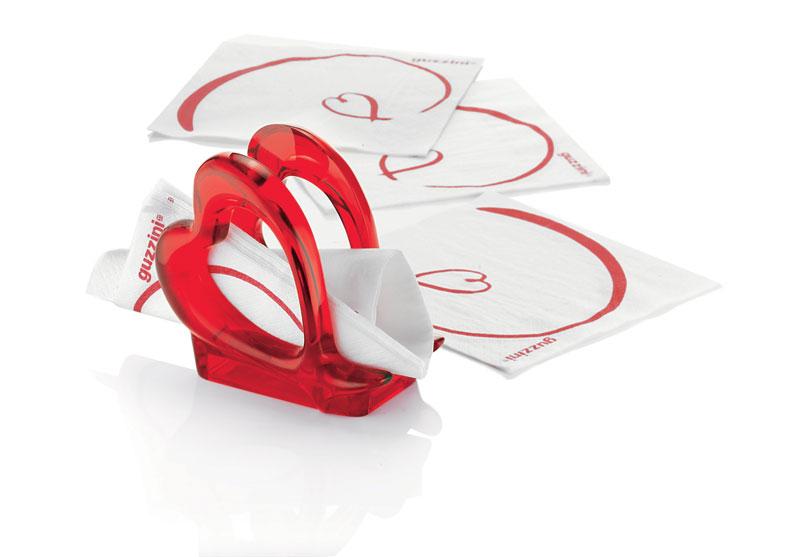 Love Porta tovaglioli 7x13xh12cm colore rosso | Guzzini | Stilcasa ...