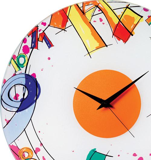 Orologio da Parete Number diametro 38 realizzato in vetro colorato ...