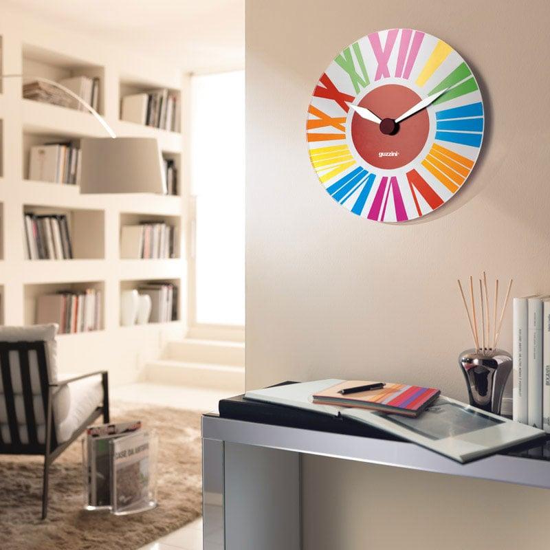 Orologio da Muro Happy Time diametro 38 in vetro di murano Guzzini ...