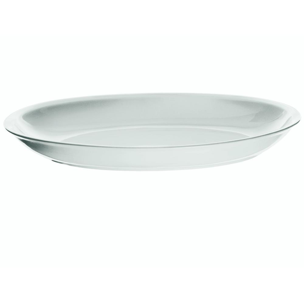 Vassoio da portata ovale my table 39x29xh5cm in porcellana bianca guzzini stilcasa net - Vassoio da portata ...