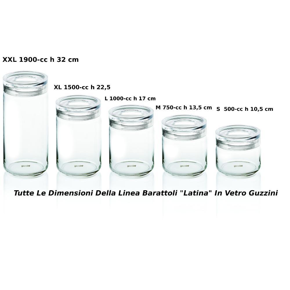 Barattolo in vetro Ø 12xh17 cm - 1000cc Latina con tappo salvaroma ...
