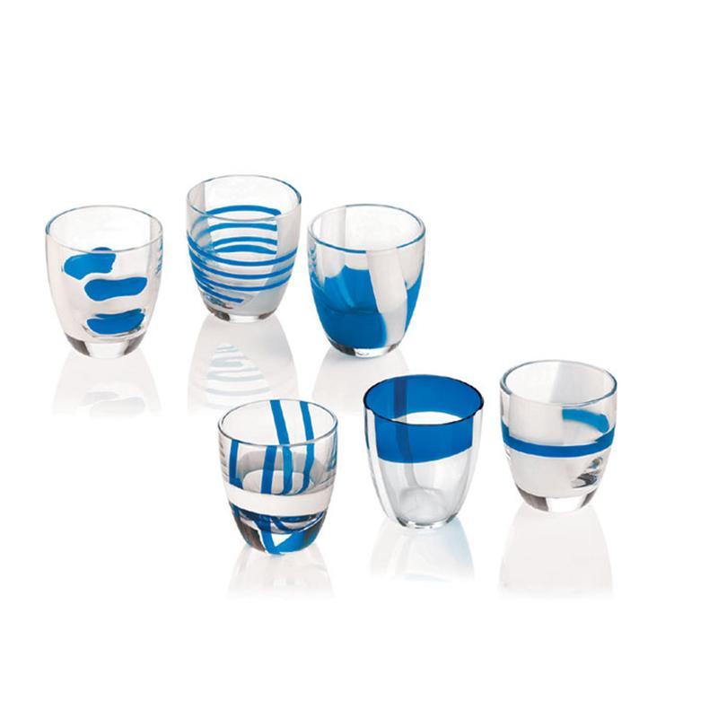 Bicchierini Liquore 6 Pezzi Table Art Blu 60 Cc Guzzini