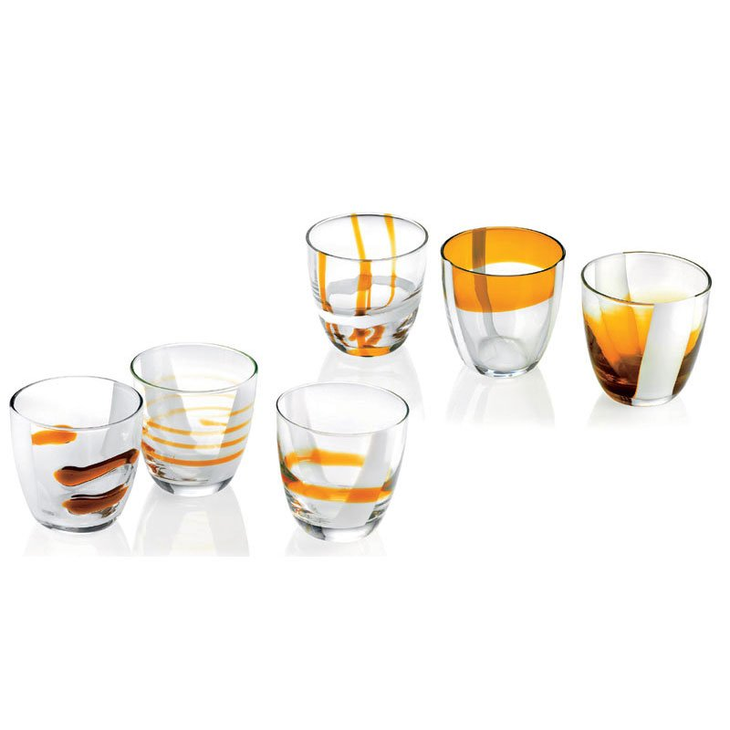 Bicchieri acqua vino 6pz table art guzzini stilcasa for Piatti e bicchieri colorati