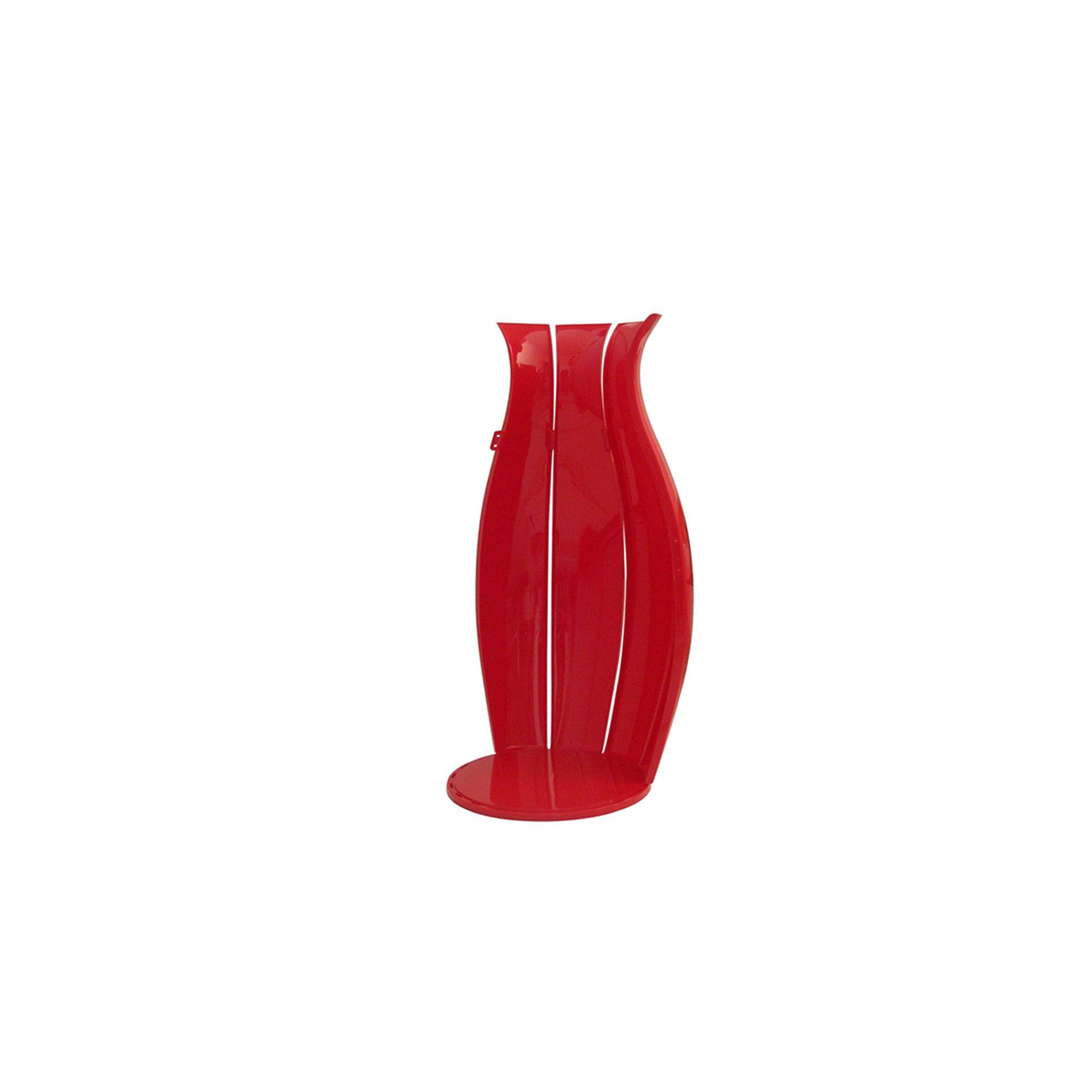Portabiancheria Sporca Guzzini.Portabiancheria Ninfea Diametro 43xh65 Cm 63 Lt Rosso Lucido In Materiale Plastico Guzzini