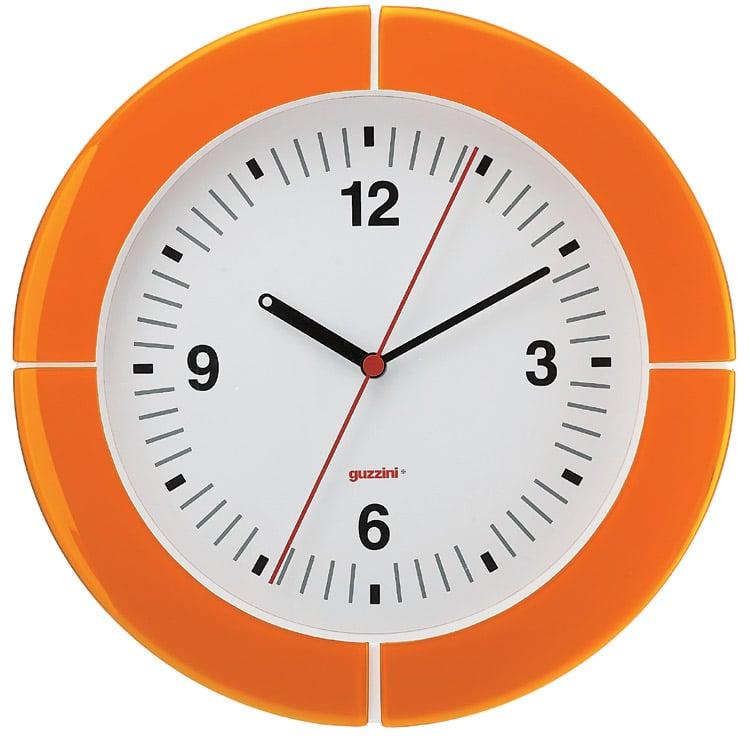 Orologio da Parete diametro 37xh4.9 cm I-Clock Arancio Trasparente ...