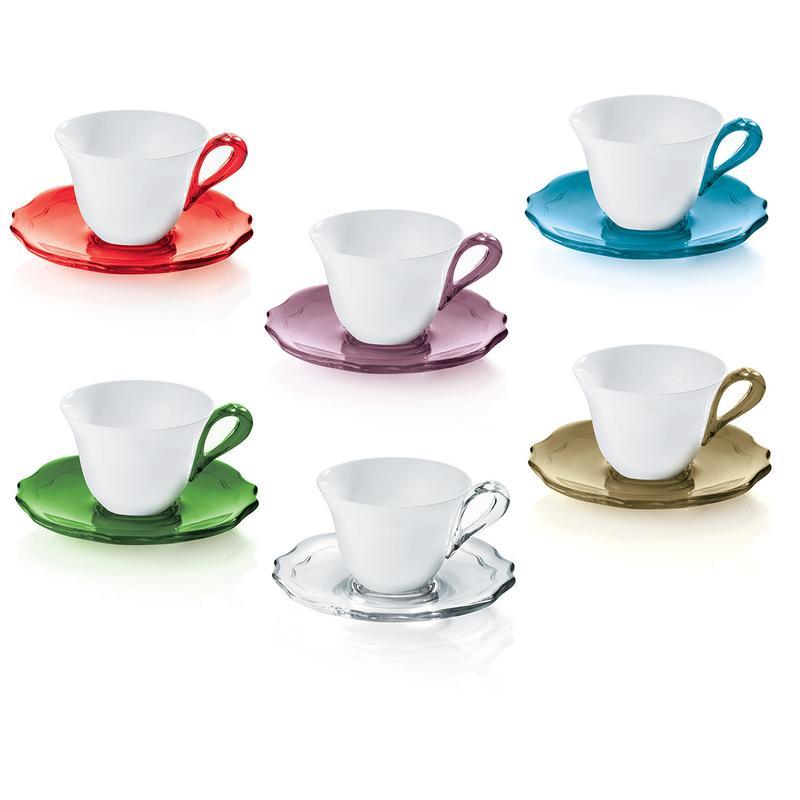 Tazzine da caffe set 6 multicolor belle epoque guzzini for Bicchieri caffe