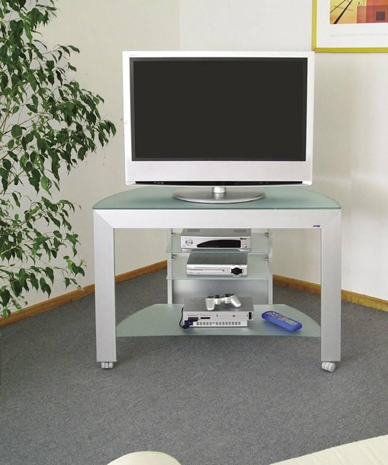 Porta tv cubo 100 in alluminio anodizzato plasma da 29 a for Porta tv 50 pollici