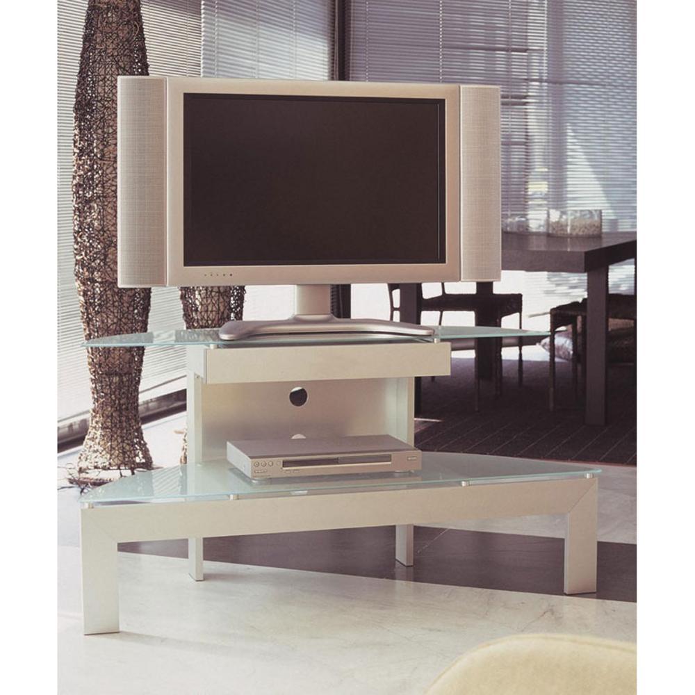 Porta Tv Lcd Vetro.Porta Tv Ellisse In Allumino Anodizzato Portata Max 60kg Da 32 A