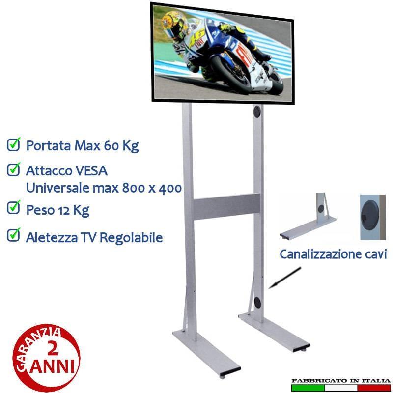 maxi piantana videowall per schermi da 42 pollici mp 42 55x54xh190